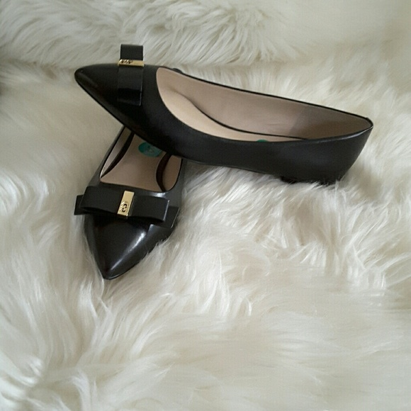 Cole Haan Elsie Bow Skimmer Leather